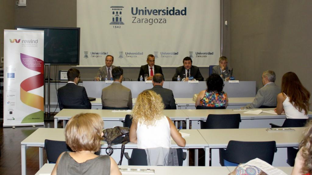 Rueda de prensa de presentación del proyecto. Edificio Paraninfo. Zaragoza 15/09/2014.